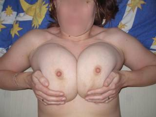 You have wonderful tits that would look even better covered in my hot cum!!!!