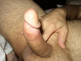 After shaving his cock he was ready to shove it into my pussy..can't wait to feel that smooth cock in me.