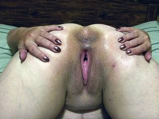 OMG what a pic  would love to bury my face in those holes for hrs eating licking etc  Then If its ok would love to slide my cock in and unload some cum in that pussy  Beautiful