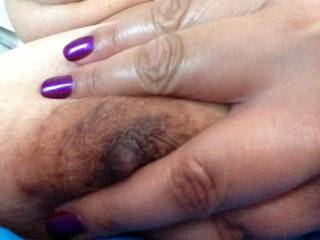 sweet Nipple, love the Nail color Hot