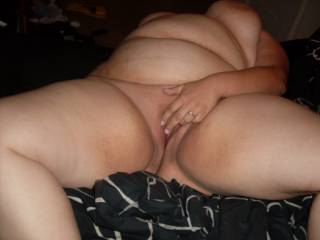 How about I stuff and stretch your pussy with my cock whole you keep rubbing? ;)