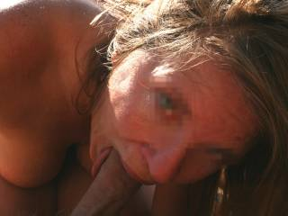 Sun\'s shining, birds are singing and Nina can lick your cock and suck it at the same time. Isn\'t summer the best season?