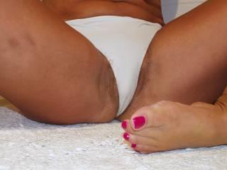 white panties hairy bush peaking out like my feet and toenails?