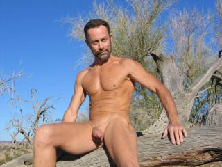 Enjoying the great warm sun on my naked body, love being a nudist