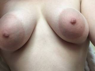 Love my tits played with while I'm riding your dick