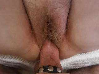 Hubby loves my pussy au natural.  He loves shoving his hard, thick cock in to it. Watch him pump me full of fun in our newest video.