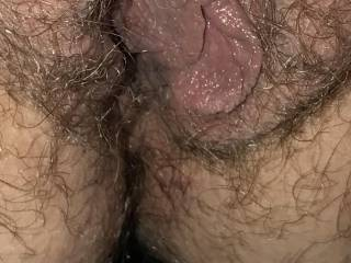 Kiki's fat hairy pussy and ass.
