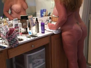 Milf getting ready for a date last night...