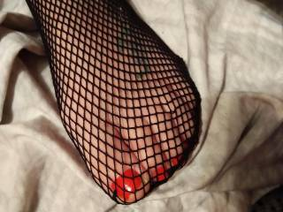 what u think first time in fishnets