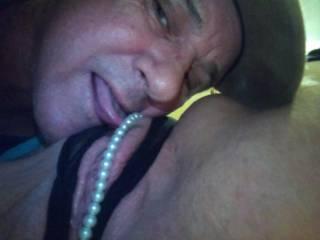 My man enjoying my wet cunt