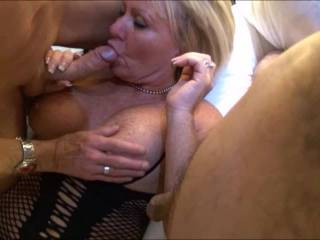They wanted two cocks - her hubby wanted to see his wife with two cocks! He took pictures and we filmed. But she wanted him also as she was so turned on sucking big cocks! Such a cuckold! x