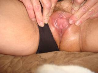 Love to!!!! Hold it open just like that for me.mmmmmmmmm suck that beautiful hard clit in my wanting mouth mmmmm magic tongue lickin it till you explode for a huge orgasm and drench my face mmmmmmmmmmmmmmmmmmmmmmmmm Delicious xx