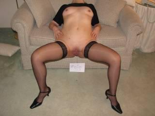 So fucking hot and sexy.  You look sooooooo good in those stockings.