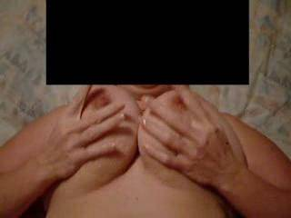 watching her big tits bounce while I plow her pussy with my cock.