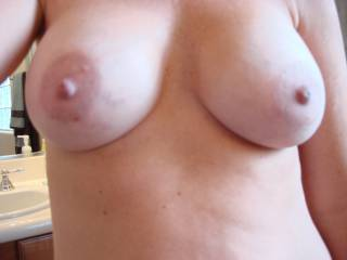 Would you let me fuck your lovely tits before cumming all over them?