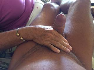 Wife giving a great hand job.