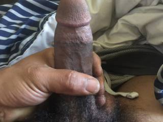Hand on my thick cut cock