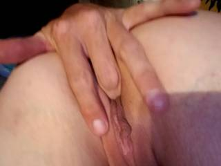 My fingers in her pussy
