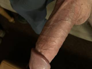 Not completely hard big swinging dick pulled out my shorts for easy access