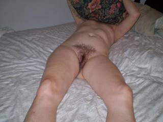 Love her hairy moist pussy, want it in my mouth,mmmmmmmmmmmmm delicious, and love her tits too, want them in my mouth and suck those lovely nipples to,mmmmmmmmm