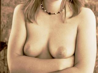 Mmmm, such beautiful sexy tits, babe, your boyfriend is a very lucky man to have them to suck and lick - but I'm sure he knows that!!!