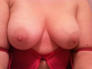 Fantastic Luscious Tits, and Awesome big Nipples!!!!  I want to run my long tongue around them one at a time, teasing, licking, nibbling, pinching and sucking them so well feeling them get so turned on, fully erect and hard in my mouth!! mmmmmmmmmmmmmmmmmm