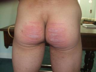 Nice looking bac-side, I would love to take the cane, and give your bare bottom a good work over. Once a month caning session, mmmm would be great.