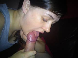 she loves to suck my cock before bed