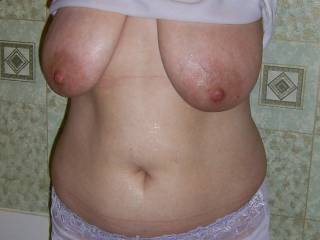I would love to play with those nice boobs :)they are swesome, Mrs:)