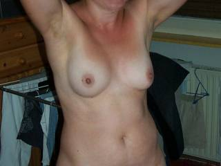 My sexy wife is showing off for you !