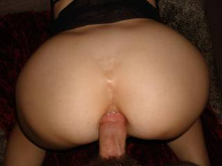 I love your round sexy ass! That's a nice thick cock you are enjoying there! Did he squirt inside or pull out and cum all over your bottom?!