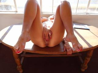 You're a beautiful woman! Great body. And you know I love those sexy feet and toes!!!