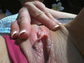 That clit belongs between my lips ..... getting some serious tongue, mouth, and lips attention ..... 'til you shudder with pleasure!  Thanks for sharing!