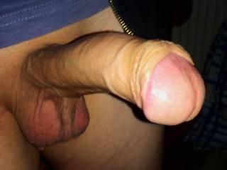 You mean your big, uncut fucker, right?  Dang, that's a great shot!