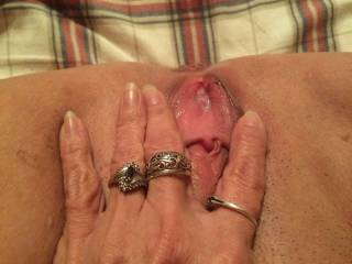 you have a cute little lady and an mmmm clit. I think we should meet so I can give you as much pleasure as your toy xxx