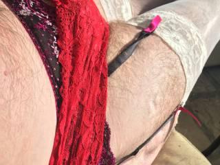 Red pantie slut x