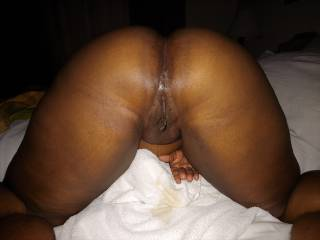 her used squirting pussy after i just pulled out. Look closely at her juices draining