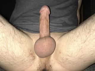 hard cock and swollen balls... think im ready cum?