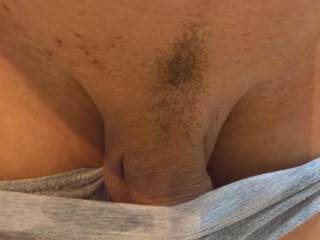 Teasing... Please tell me if you like shaved or hairy cocks more, I\'m curious!