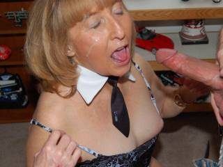 I loved giving a mature sexy woman a facial when she asked. Found this picture in my 2001 folder. Enjoy! Her husband took the photo.