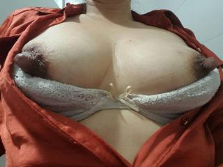My sexy wife and her big hard nipples.