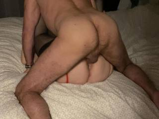 While dreaming of being nailed by an entire football-team, this bare cock is fucking me the way I like it!
