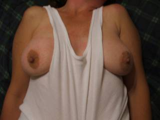 You have such marvelous tits to play with, kiss,lick, suck, nibble.  I'd keep them out always,  You have it why not flaunt it?