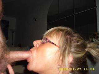 Oh how she loves a cock in her mouth...