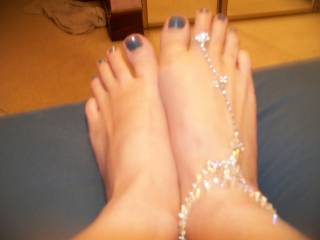 I would love to slide my hard cock between those sexy feet and cover them with my hot  cum!