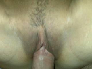 filling her tight pussy