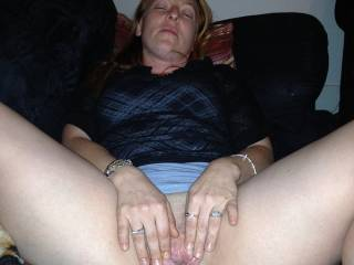 LOVE this view and pose. I'd like to lick and deep fuck your nice wet pussy.