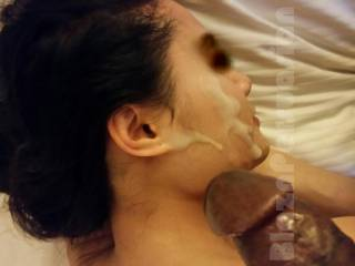 Look what she made me do! Pussy so wet & tight, I couldn\'t control myself, so I came all over her face.