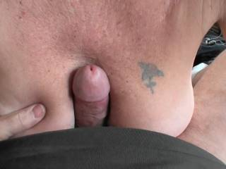 A few more photos of him tit fucking me. Love the way that big dick feels between my tits. What do you think of my tits and/or his dick?