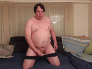 When sperm flowed from my cock: From the desire for satisfaction on the knees, I jerked my cock and splashed in front of the camera as fast as it went. Because I wanted to ease my sack of a little sperm. This resulted in a horny j